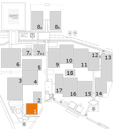 K 2016 fairground map: Hall 1