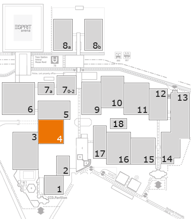 K 2016 fairground map: Hall 4