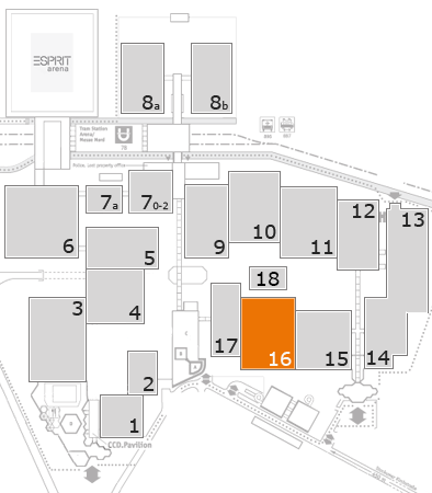 K 2016 fairground map: Hall 16