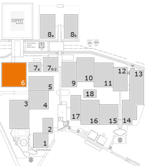 K 2016 fairground map: Hall 6, gallery