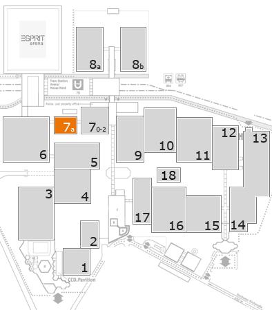 K 2016 Geländeplan: Halle 7a
