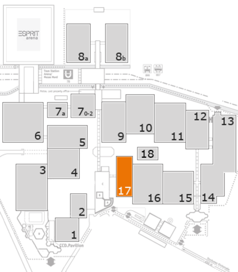 K 2016 fairground map: Hall 17