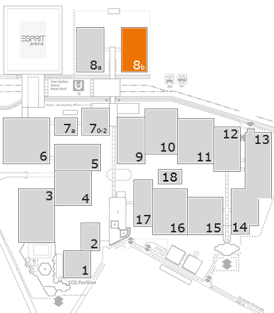 K 2016 fairground map: Hall 8b