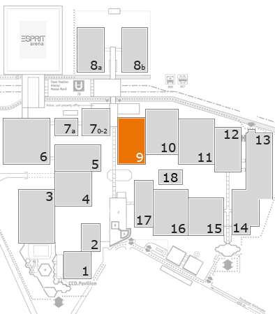 K 2016 Geländeplan: Halle 9