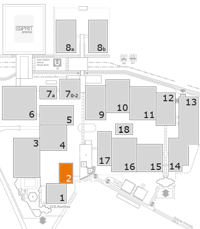 K 2016 fairground map: Hall 2