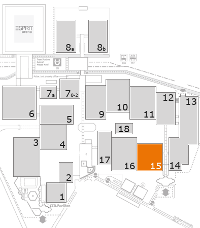 K 2016 fairground map: Hall 15
