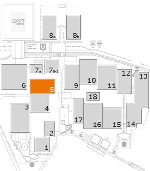 K 2016 fairground map: Hall 5