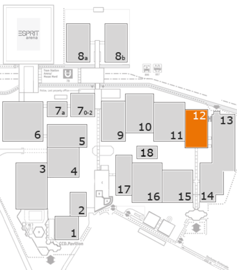 K 2016 fairground map: Hall 12