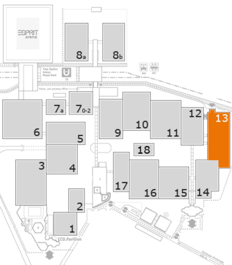 K 2016 fairground map: Hall 13