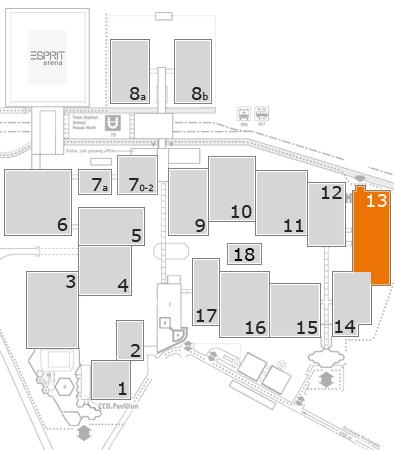 K 2016 Geländeplan: Halle 13