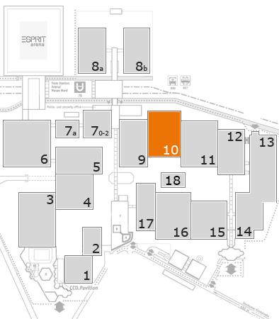 K 2016 Geländeplan: Halle 10
