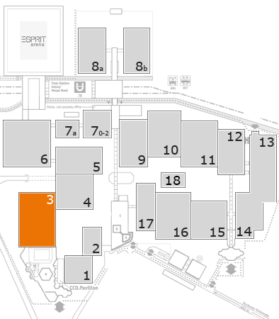 K 2016 Geländeplan: Halle 3