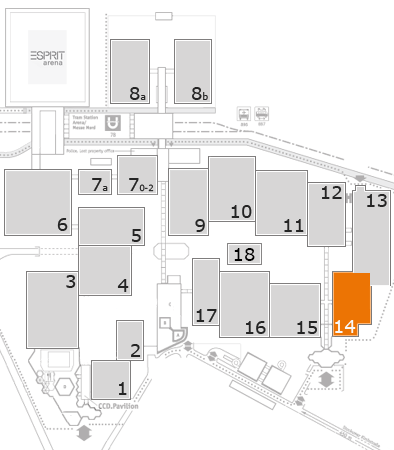 K 2016 fairground map: Hall 14