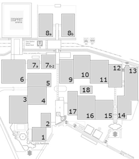K 2016 Geländeplan: FG Halle 9