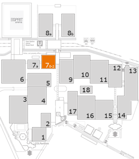 K 2016 fairground map: Hall 7, level 1