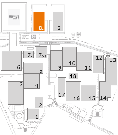 K 2016 fairground map: Hall 8a