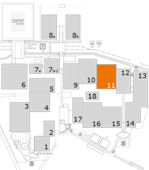 K 2016 fairground map: Hall 11