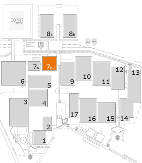 K 2016 fairground map: Hall 7, level 2
