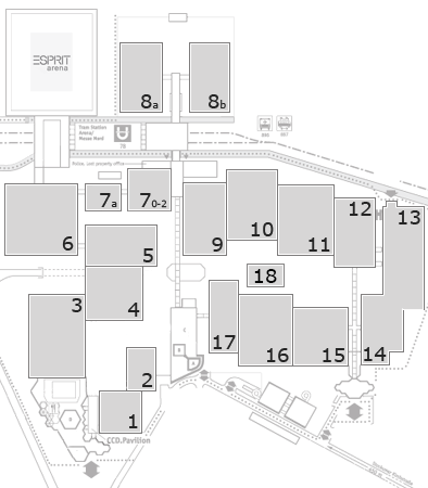 K 2016 fairground map: North Entrance 1