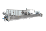 In-line automatic blister packing machines for industrial products