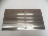 Scraper knives melt filters
