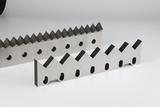 Stator knives for single shaft shredders