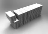 Blockgrößen von L 2.0 bis 8.0 x B 1.0 bis 1.3 x H 1.0 bis 1.6m