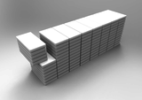 Block sizes: Length 2.5 to 6.0m x Width 1.0 - 1.3m x Height up to 1.6m
