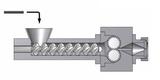 Einschneckenextruder (SF) mit Extrusionskopf