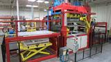 Twin sheet thermoforming machine