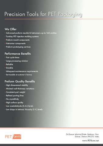 PETform Mould Brochure