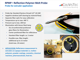 RPMP Reflection polymer melt probe for opaque type of molten polymers