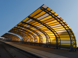 Colorado Soundwall Train Station