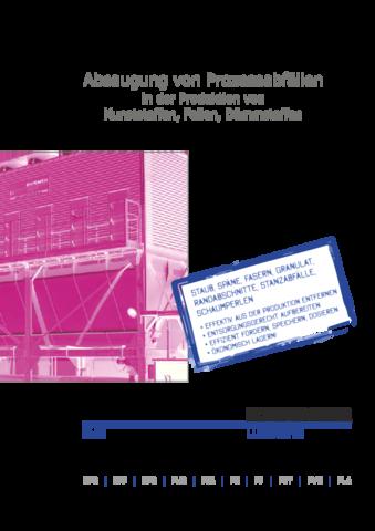 Absaugung von Prozessabfällen in der Produktion von Kunststoffen, Folien, Dämmstoffen