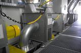 Radial fans for material transport