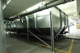 Storage silo for packaging material