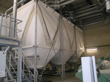 Textile silo in plastic recycling