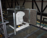 Cutting ventilator for endless trim in acoustic booth