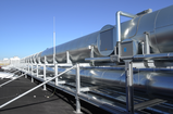 Insulated spark extinguishing system for outdoor areas