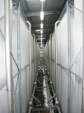 Textile silo unit for expanded plastic