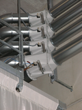 Switch-over units for the filling of silos