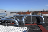 Duct system through the roof