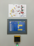 Touch-capable control panel with plant layout