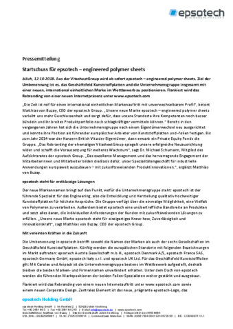 Pressemitteilung Rebranding VitasheetGroup wird epsotech 12