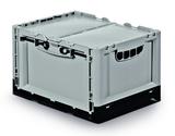Prelog CMB - 400 x 300 x 240mm - Solid base and walls - 2 open handholes - label holder