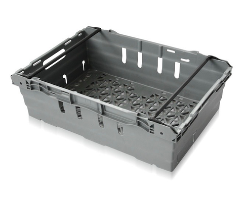 Maxinest® Plus 600 x 400 x 194mm - Reinforced ventilated base and walls - 2 open handholes
