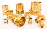 Brass inserts for PE