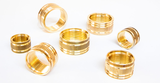 Brass inserts for filters