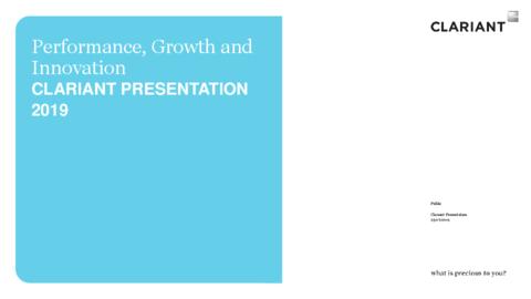 Clariant Company Presentation
