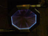 Profiled flame ribbon burners